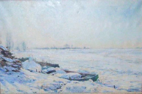 Bootje in de winter