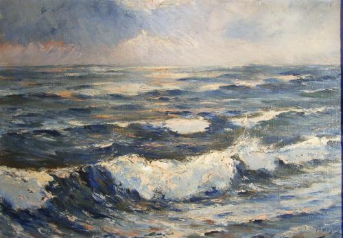 zee aanstormende golven 2